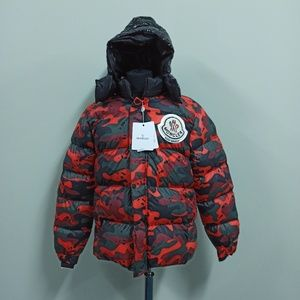 Moncler Military Camouflage Puffer  Down Jacket